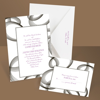 Beautifully Modern - Ebony - Wedding Invitation