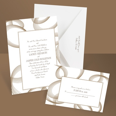 Beautifully Modern - Latte - Wedding Invitation