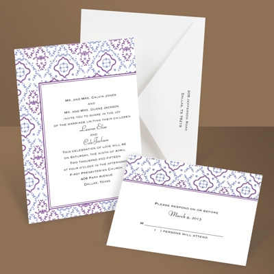 Antique Details - Amethyst - Invitation