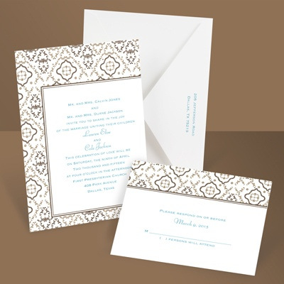 Antique Details - Chocolate - Invitation