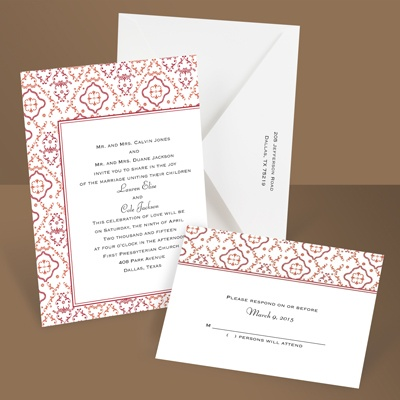 Antique Details - Tango - Invitation