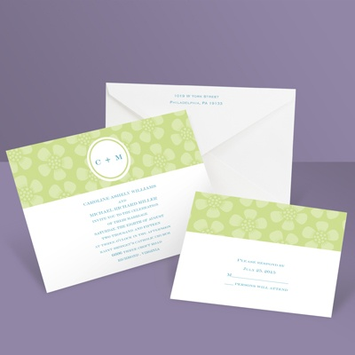 Pretty Petals - Pear - Invitation