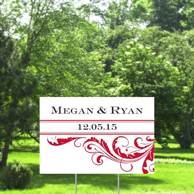 Flourish Yard Sign - Barn Red - Small