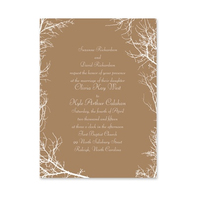 Boughs and Branches - Petite Invitation