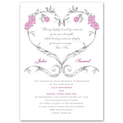 Fairy Tale Roses - Invitation