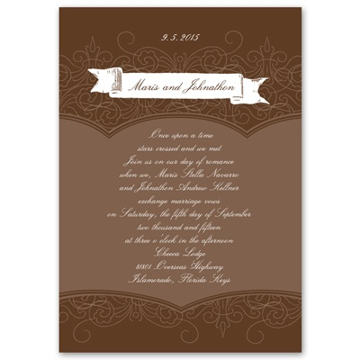 Banners and Swirls - Invitation