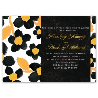 Watercolor Flowers - Marigold - Invitation