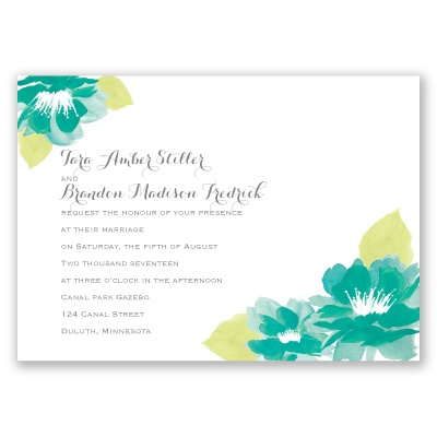 Watercolor Lotus - Palm - Invitation