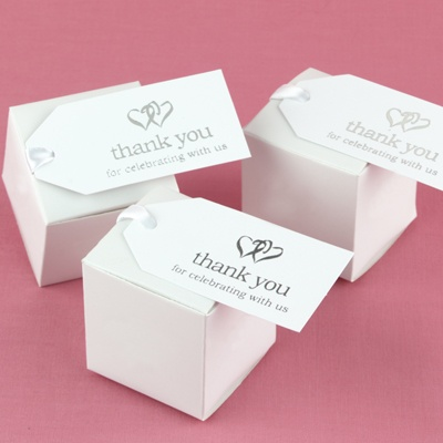 Linked at the Heart White Favor Cards