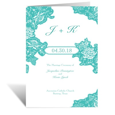 Romantic Details - DIY Wedding Program