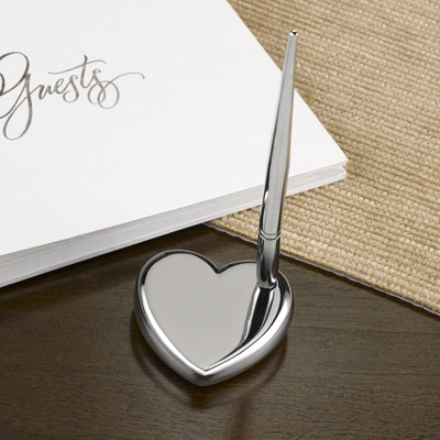 Silver Heart Pen Set