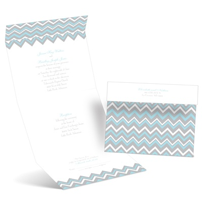 Sophisticated Chevron - Seal and Send Invitation