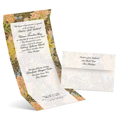 Floral Menagerie - Kiwi - Seal and Send Invitation