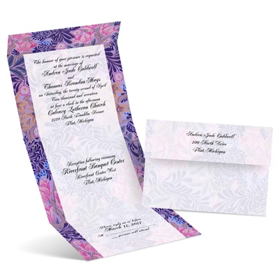 Floral Menagerie - Lavender - Seal and Send Invitation