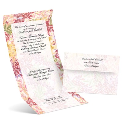 Floral Menagerie - Petal - Seal and Send Invitation