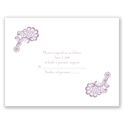 Fanciful Filigree - Response Card and Envelope