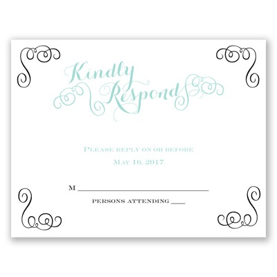 Most Special Day - Response Card and Envelope