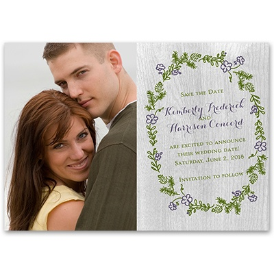 Woodland Greens - Save the Date Card