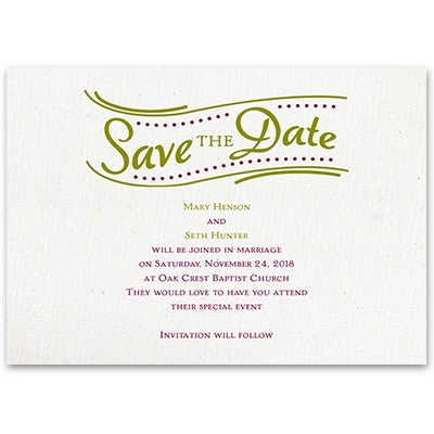 Modern Details - Save the Date Card