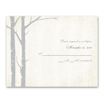 Secret Spot - Sterling - Response Card and Envelope