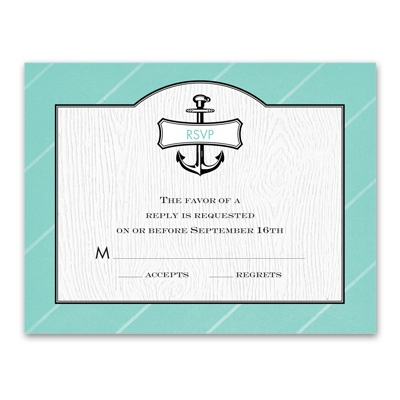 Nautical Details - Response Card and Envelope