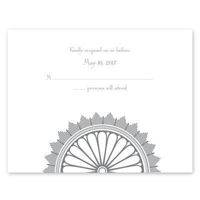 Art Deco Luxury - Response Card and Envelope