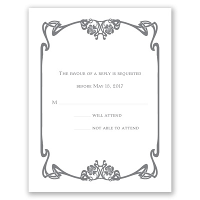 Distinct Style - Response Card and Envelope