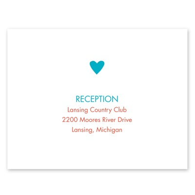 One Heart - Reception Card