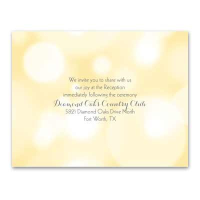 Pretty Bubbles - Butter - Reception Card