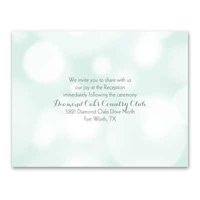 Pretty Bubbles - Mint - Reception Card