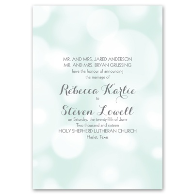 Pretty Bubbles - Mint - Invitation