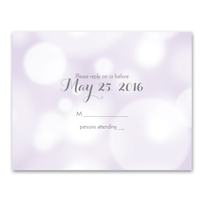 Pretty Bubbles - Pastel Purple - Response Card and Envelope