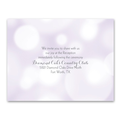 Pretty Bubbles - Pastel Purple - Reception Card