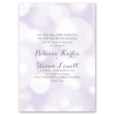 Pretty Bubbles - Pastel Purple - Invitation
