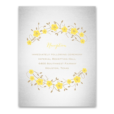 Truly, Madly, Deeply - Reception Card