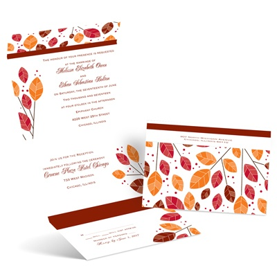 Modern Leaves - Seal and Send Invitation