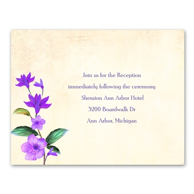 Vintage Vines - Grapevine - Reception Card