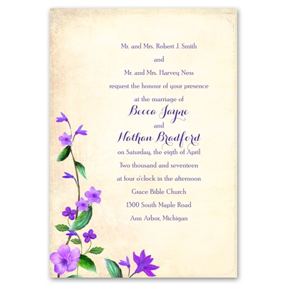 Vintage Vines - Grapevine - Invitation