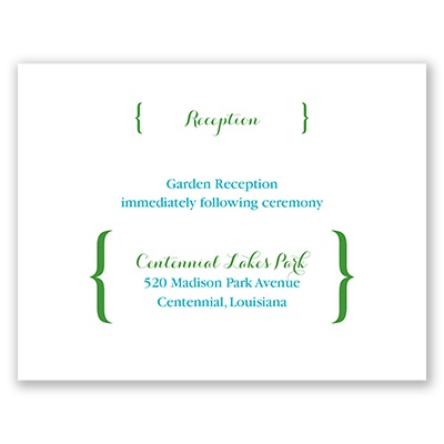 In Style - Reception Card