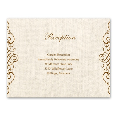 Rustic Love - Reception Card