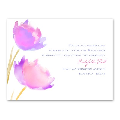 Floral Splash - Fuchsia - Reception Card