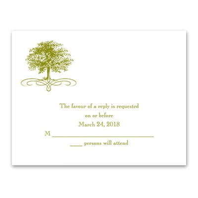 Majestic Oak - Response Card and Envelope