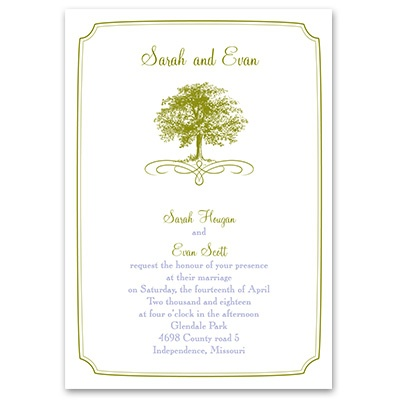 Majestic Oak - Invitation