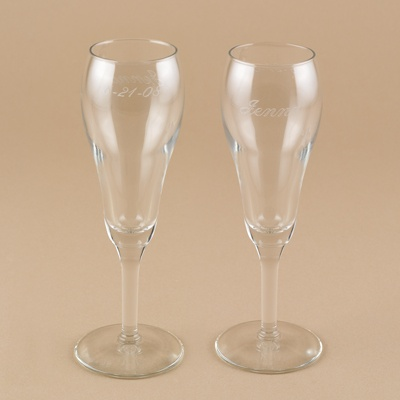 Tulip Shaped Flutes - Personalized