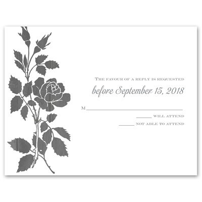 Rustic Rose - Response Card