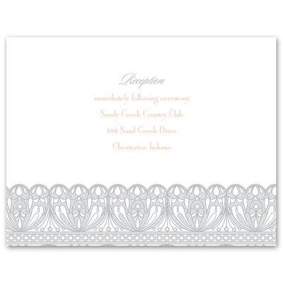 Royal Lace - Reception Card
