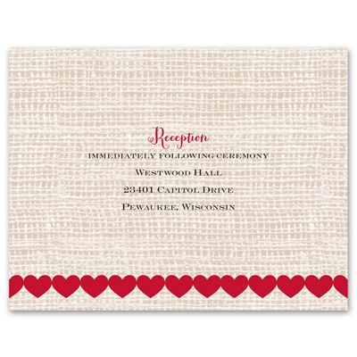 Heart Patch - Reception Card