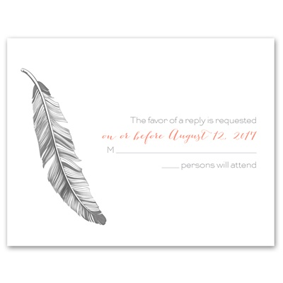 Pretty Feather - Response Card