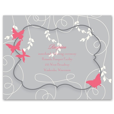 Butterfly Love - Reception Card