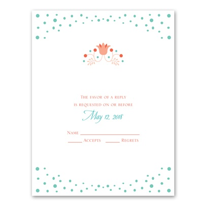 Fairy Floral - Response Card